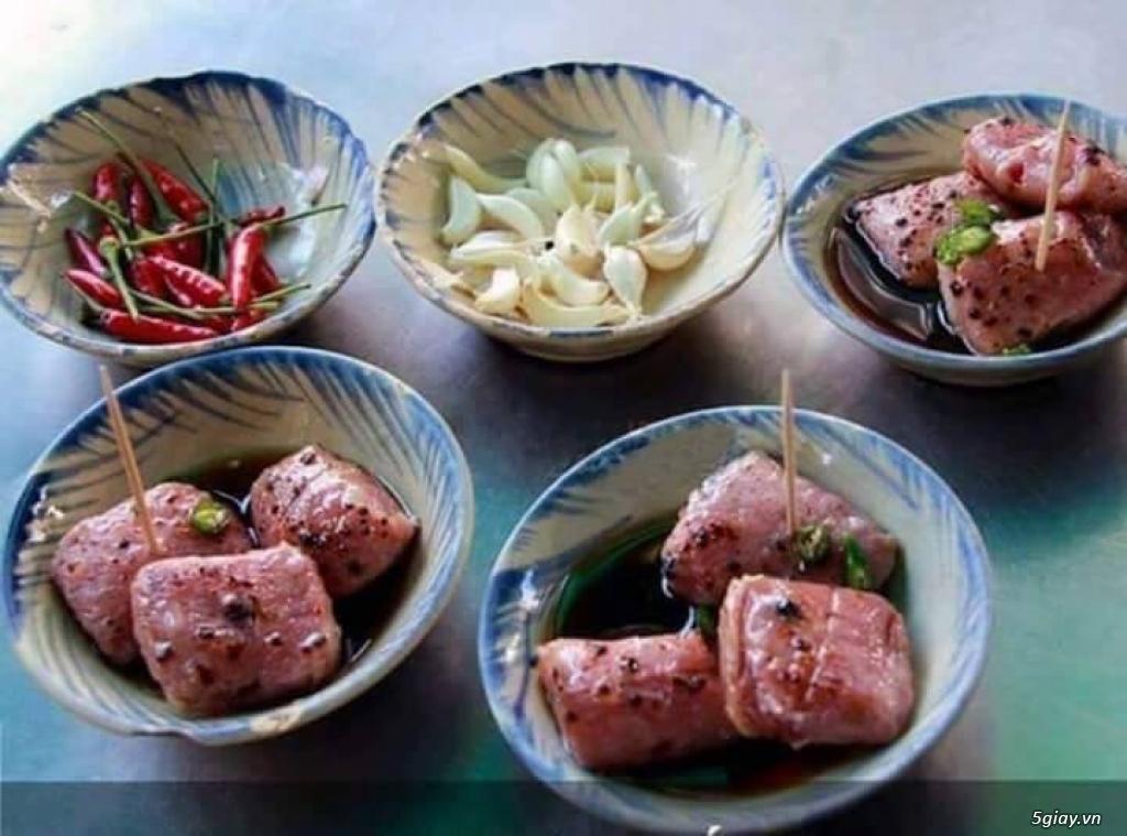 Đặc sản Bình Định - Nem chua nướng lụi